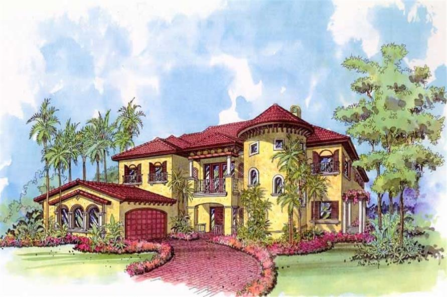 Home Plan Rendering of this 5-Bedroom,4375 Sq Ft Plan -107-1178