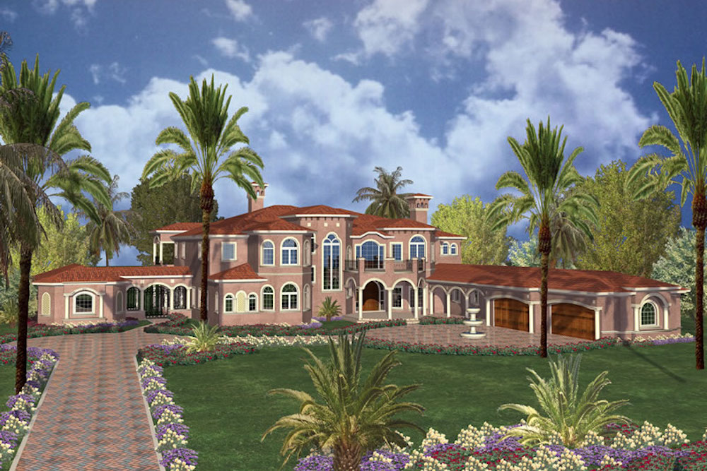 Florida Style Home - 7 Bedrms, 6 Baths - 15601 Sq Ft - #107-1179