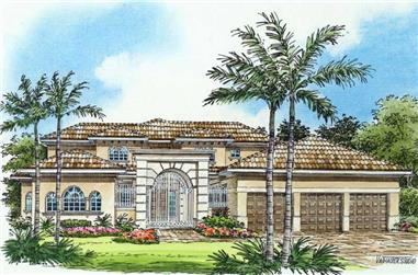 4-Bedroom, 5789 Sq Ft Coastal Home Plan - 107-1180 - Main Exterior