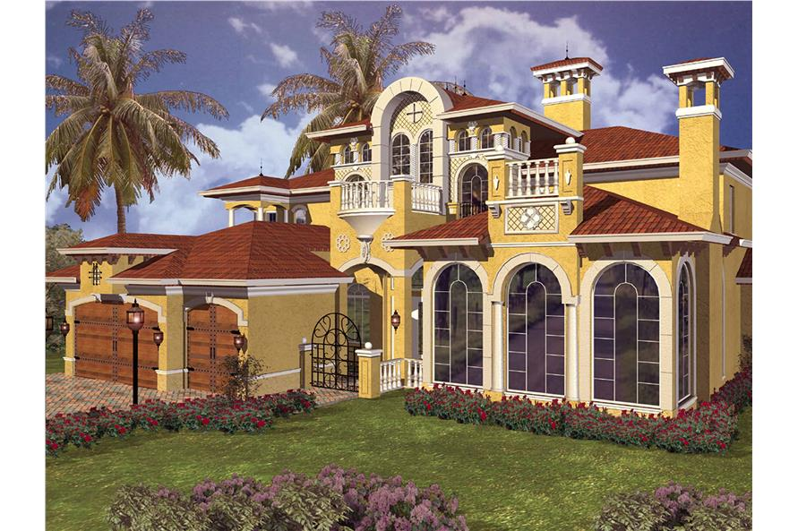 Home Plan Rendering of this 5-Bedroom,5966 Sq Ft Plan -5966