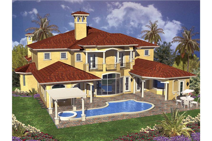 Pool of this 5-Bedroom,5966 Sq Ft Plan -5966