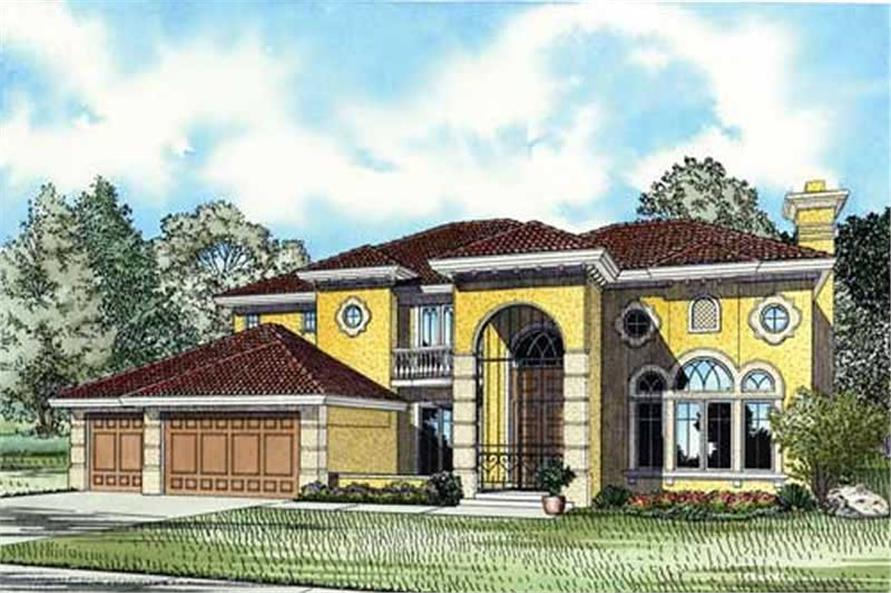 Home Plan Rendering of this 5-Bedroom,5140 Sq Ft Plan -107-1184