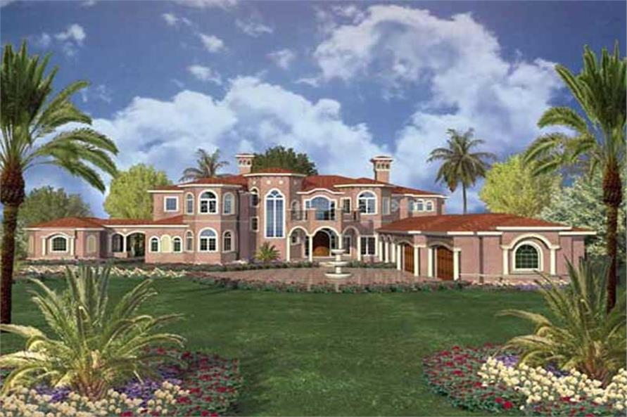 house plan #107-1189 : 7 bedroom, 10433 sq ft luxury