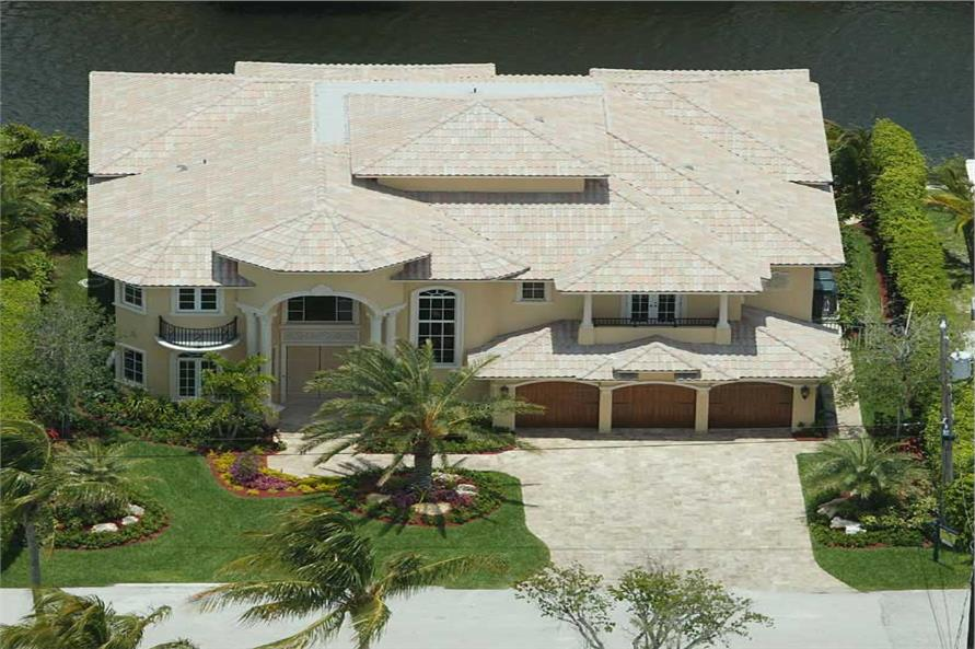 Aerial View #5 of this 5-Bedroom,5066 Sq Ft Plan -5066