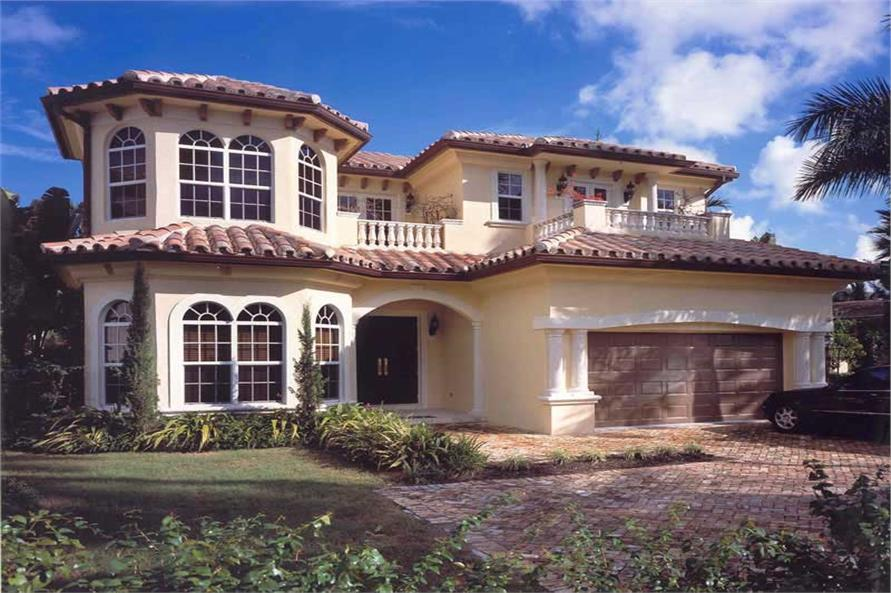 5-Bedroom, 4210 Sq Ft Mediterranean Home Plan - 107-1193 - Main Exterior