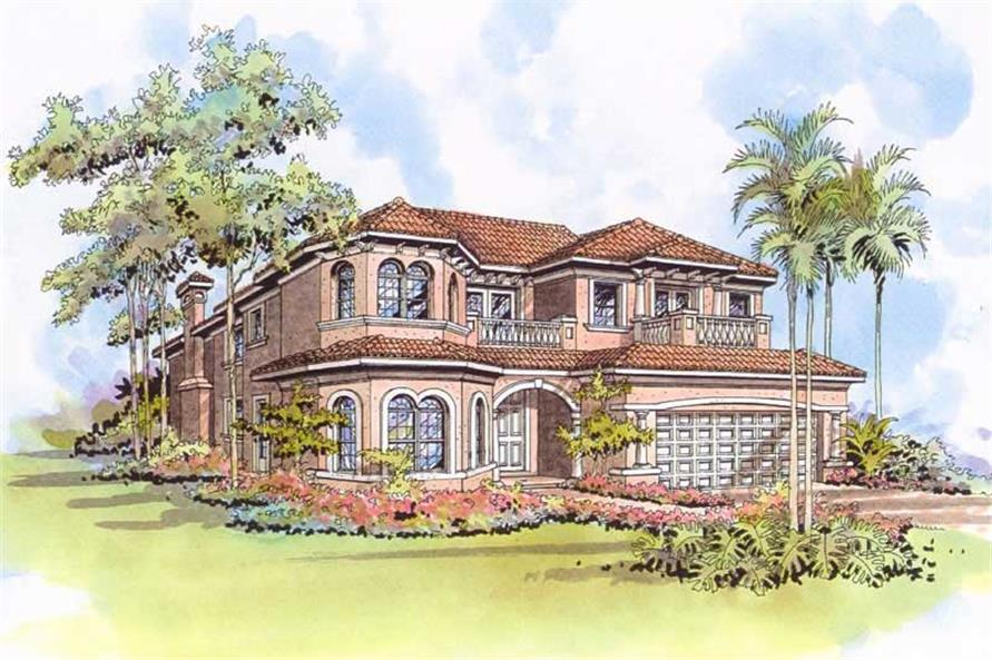 Front Elevation of this 5-Bedroom,4210 Sq Ft Plan -4210
