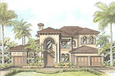 4-Bedroom, 11237 Sq Ft Cape Cod House Plan - 107-1194 - Front Exterior