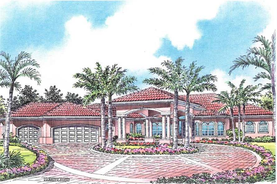 6-Bedroom, 5084 Sq Ft Luxury Home Plan - 107-1205 - Main Exterior