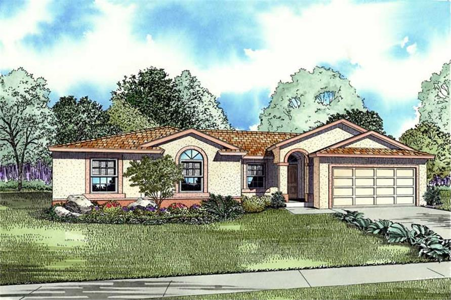 4-Bedroom, 1658 Sq Ft Mediterranean House Plan - 107-1206 - Front Exterior