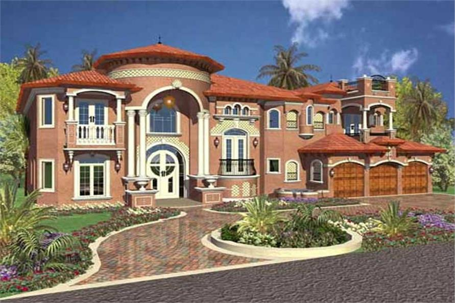 Rendering of this 6-Bedroom,6679 Sq Ft Plan -6679