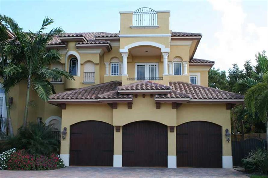 Home Exterior Photograph of this 6-Bedroom,6679 Sq Ft Plan -107-1207