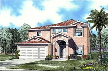3-Bedroom, 1926 Sq Ft Mediterranean House Plan - 107-1209 - Front Exterior
