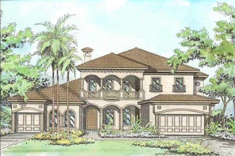 5-Bedroom, 5412 Sq Ft Coastal Home Plan - 107-1210 - Main Exterior