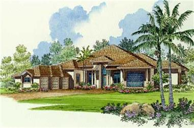 6-Bedroom, 4945 Sq Ft Coastal Home Plan - 107-1212 - Main Exterior