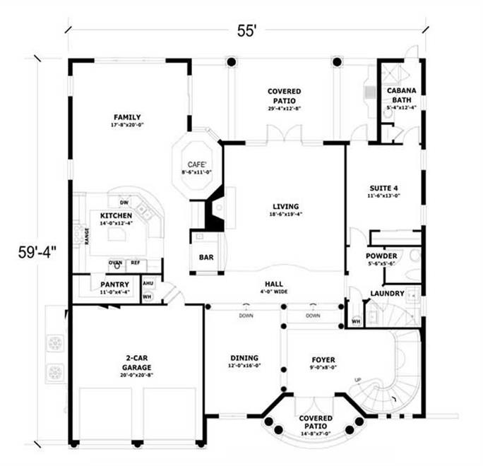 delightful 2 level floor plans #4: ... FIRST LEVEL FLOOR PLAN