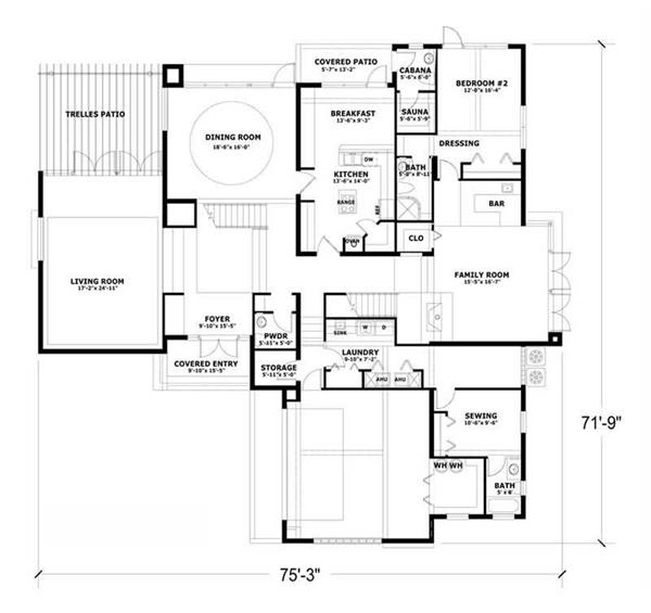 Lovely Concrete Floor Plans #2: Open Floor Plan Seems Very Popular Among The Modern Home Design Currently  Including Thisu0026 . Fantastic
