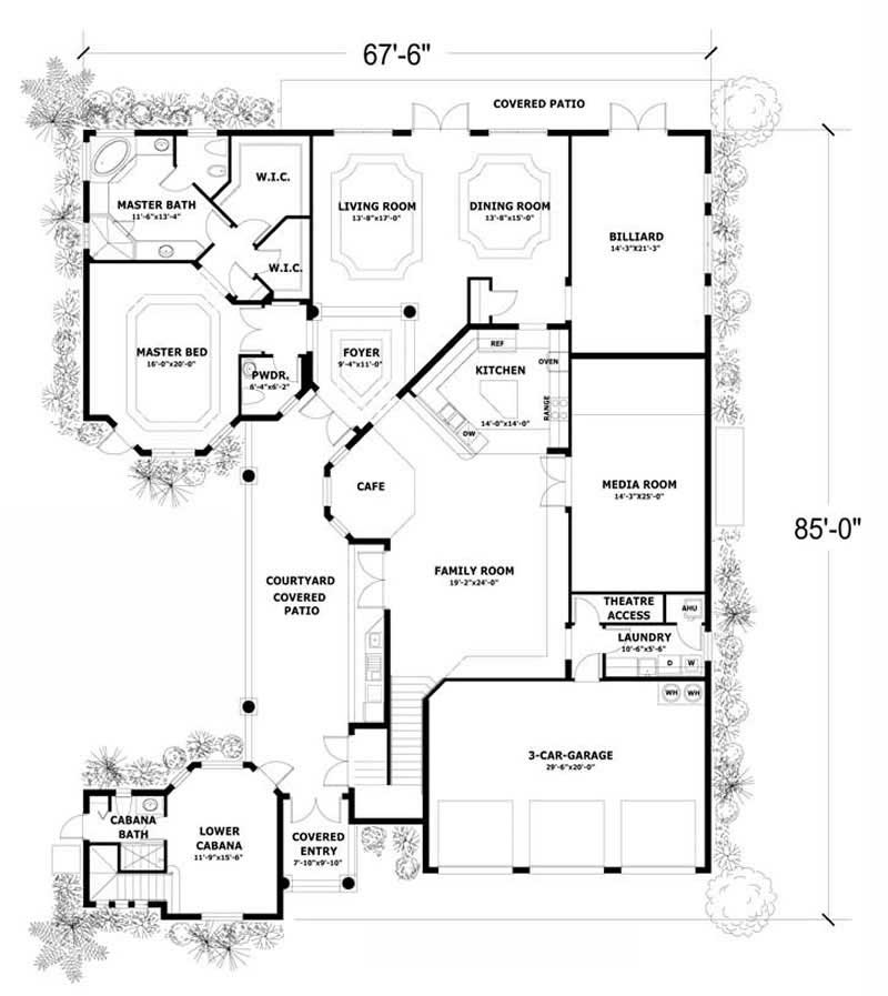 In Law Suite Home With 5 Bdrms 5690 Sq Ft House Plan