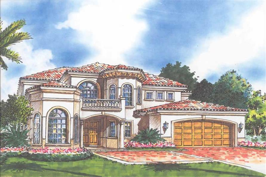 Home Plan Rendering of this 3-Bedroom,4020 Sq Ft Plan -107-1217