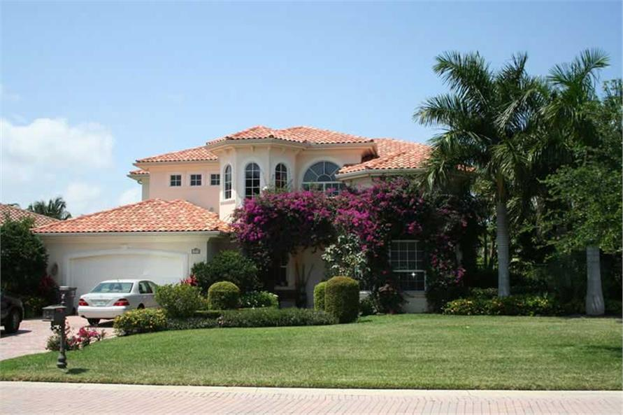 3-Bedroom, 4020 Sq Ft Mediterranean Home Plan - 107-1217 - Main Exterior