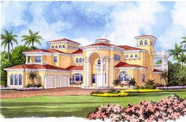 5-Bedroom, 7893 Sq Ft Luxury House - Plan #107-1219 - Front Exterior