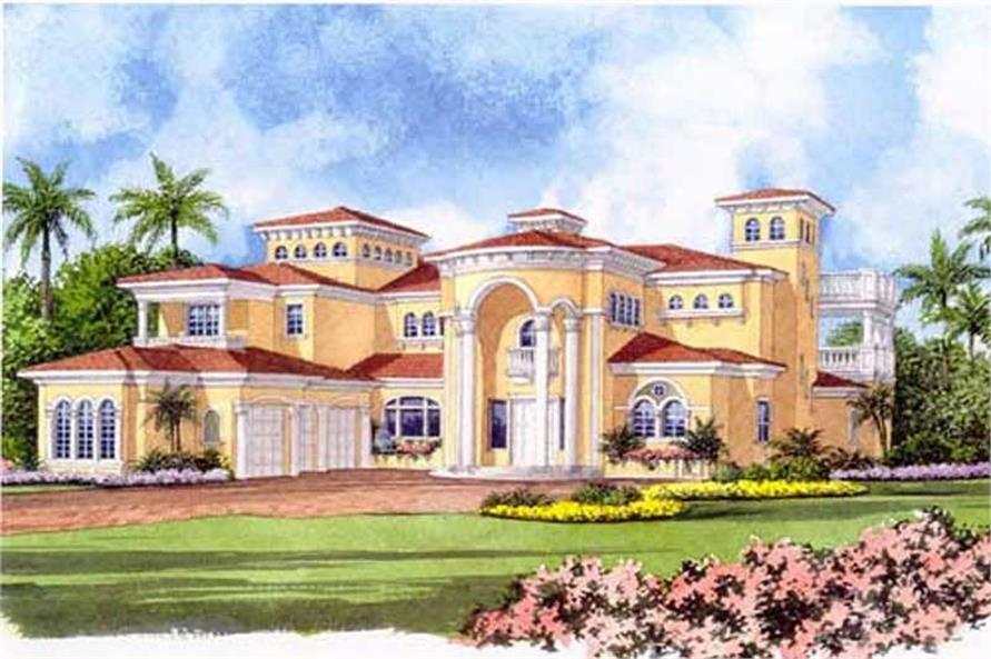 5-Bedroom, 7893 Sq Ft Luxury House Plan - 107-1219 - Front Exterior