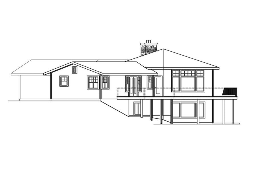 Home Plan Right Elevation of this 3-Bedroom,3793 Sq Ft Plan -108-1001
