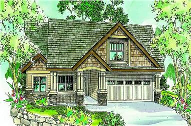 3-Bedroom, 2264 Sq Ft Country House Plan - 108-1005 - Front Exterior