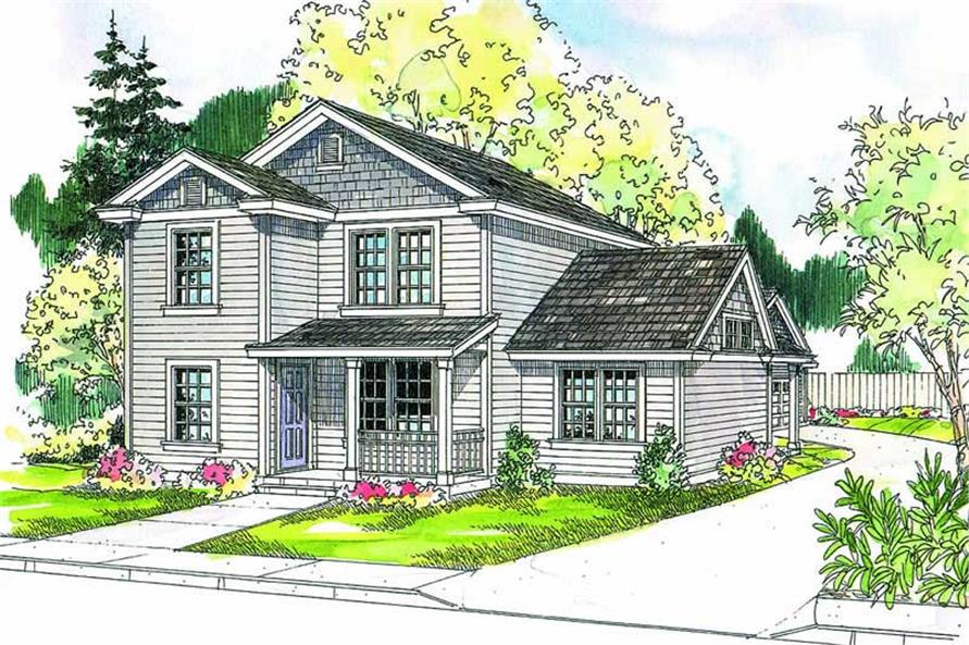 3-Bedroom, 1673 Sq Ft Contemporary House Plan - 108-1009 - Front Exterior