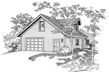 0-Bedroom, 1200 Sq Ft Garage House Plan - 108-1011 - Front Exterior