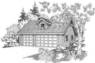 0-Bedroom, 841 Sq Ft Garage House Plan - 108-1012 - Front Exterior