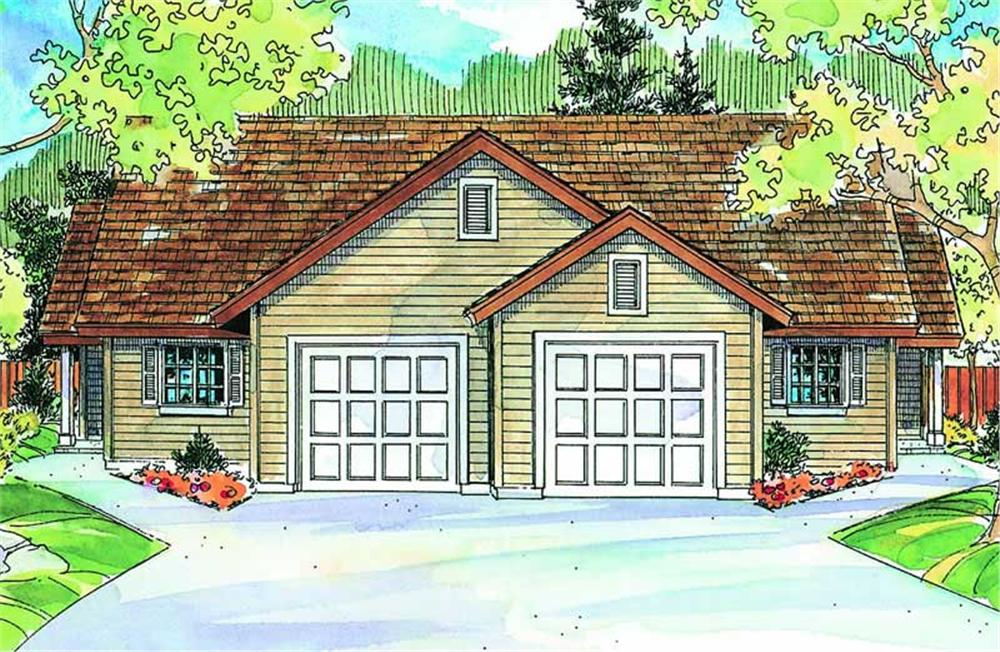 Main image for house plan # 21077