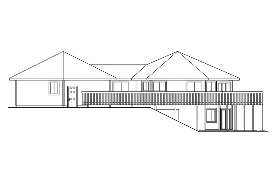 Home Plan Right Elevation of this 3-Bedroom,3881 Sq Ft Plan -108-1015