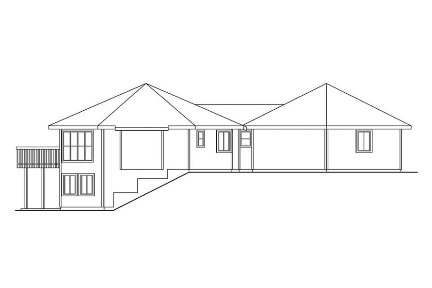 Home Plan Left Elevation of this 3-Bedroom,3881 Sq Ft Plan -108-1015