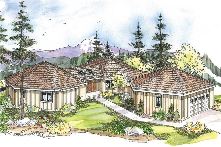 3-Bedroom, 3881 Sq Ft Contemporary House - Plan #108-1015 - Front Exterior