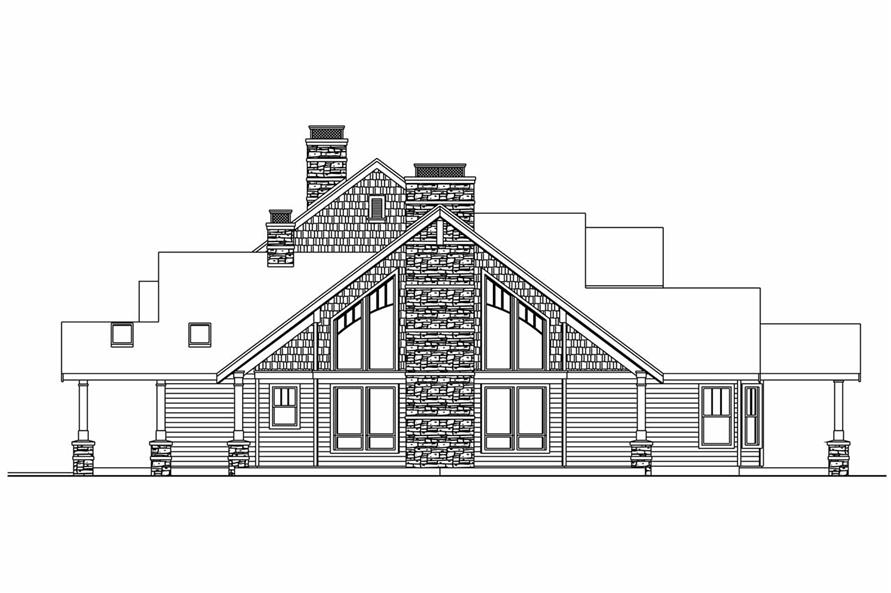 Home Plan Right Elevation of this 4-Bedroom,4292 Sq Ft Plan -108-1017