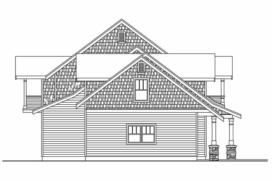 Home Plan Left Elevation of this 4-Bedroom,4292 Sq Ft Plan -108-1017