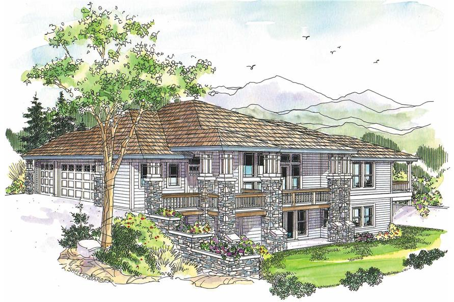 3-Bedroom, 3040 Sq Ft Contemporary Home Plan - 108-1021 - Main Exterior