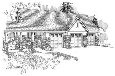 0-Bedroom, 1455 Sq Ft Garage House Plan - 108-1023 - Front Exterior