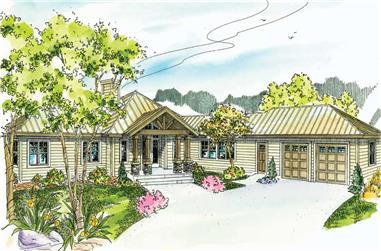 3-Bedroom, 2840 Sq Ft Ranch Home - Plan #108-1024 - Main Exterior