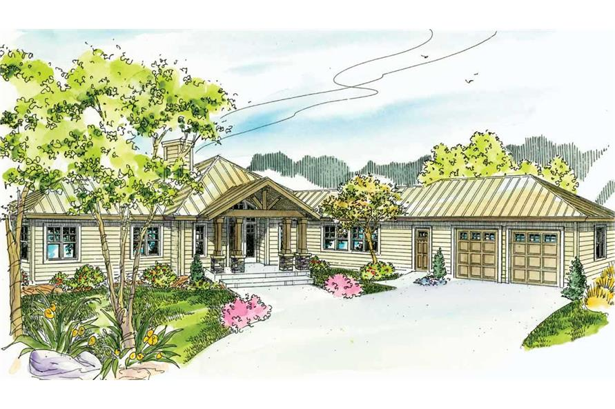 This is a color rendering for these Craftsman Houseplans.