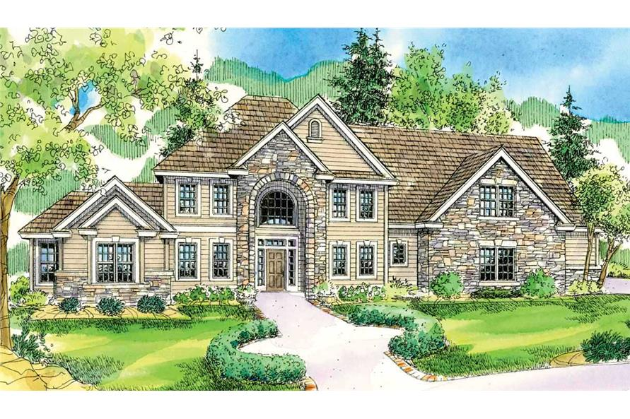 5-Bedroom, 3143 Sq Ft Colonial House Plan - 108-1025 - Front Exterior