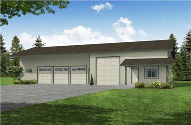 3992 Total Sq Ft Garage with Rec Room Plan - 108-1026 - Main Exterior