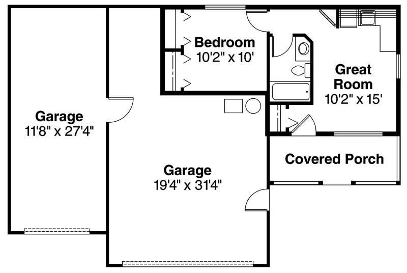 garage with 3 car 0 bedroom 1232 sq ft floor plan 108 1027. Black Bedroom Furniture Sets. Home Design Ideas
