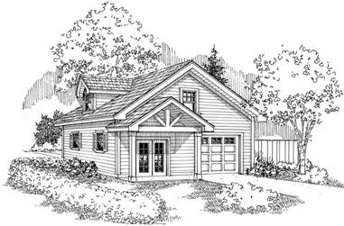 0-Bedroom, 900 Sq Ft Garage House Plan - 108-1029 - Front Exterior