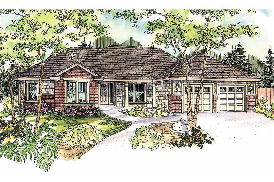 4-Bedroom, 2610 Sq Ft Contemporary House Plan - 108-1032 - Front Exterior