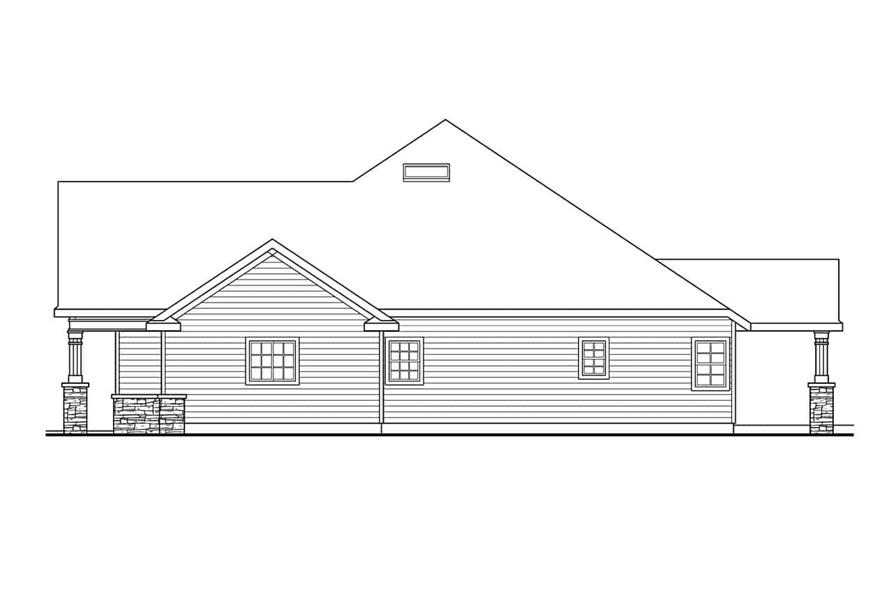 Home Plan Right Elevation of this 3-Bedroom,2825 Sq Ft Plan -108-1034