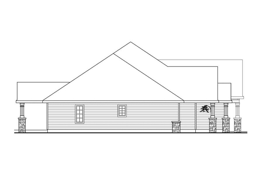 Home Plan Left Elevation of this 3-Bedroom,2825 Sq Ft Plan -108-1034