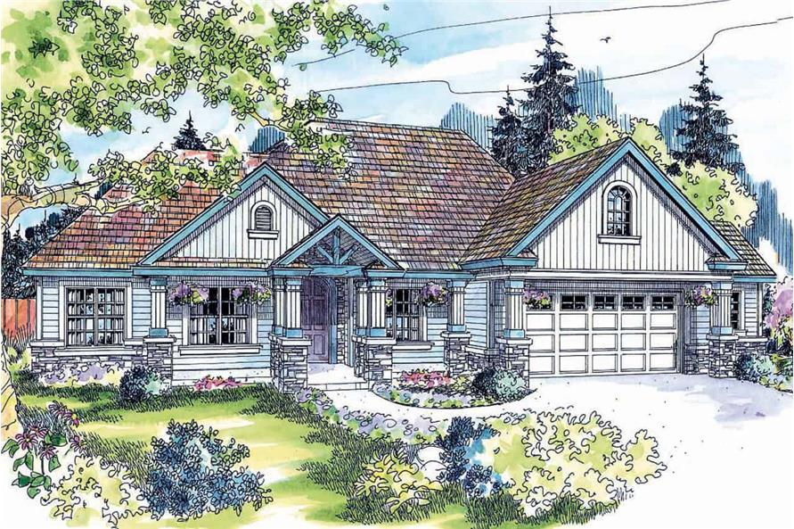 3-Bedroom, 2825 Sq Ft Country House  - Plan #108-1034 - Front Exterior