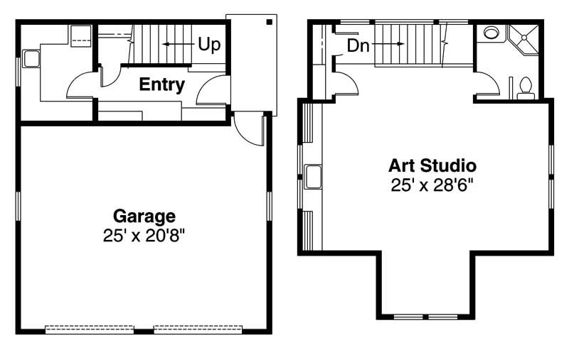 Craftsman garage home with 1 bedroom 1429 sq ft house for Garage apartment plans craftsman