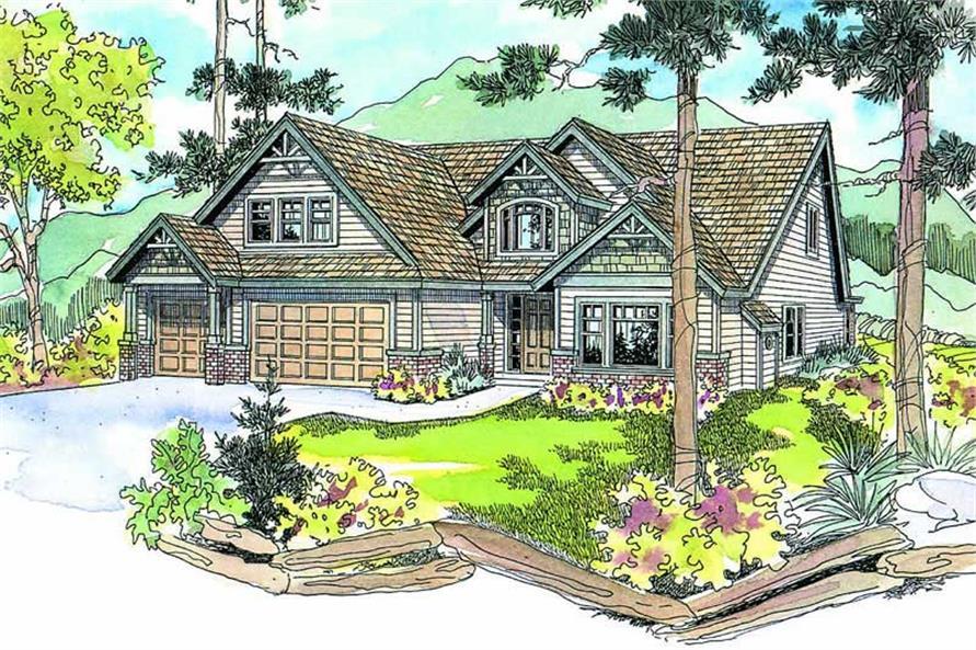 4-Bedroom, 2965 Sq Ft Craftsman House Plan - 108-1041 - Front Exterior
